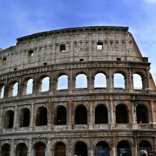 See the colosseum on an educational tour to Rome, Italy.